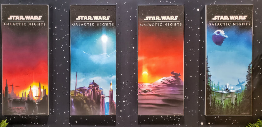 Star Wars Galactic Nights Posters