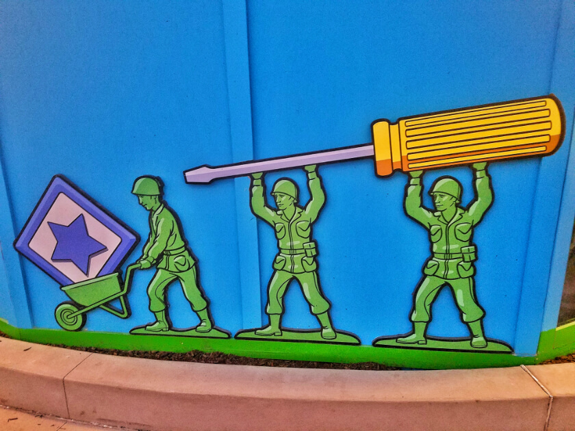 Green Army Men Construction Wall