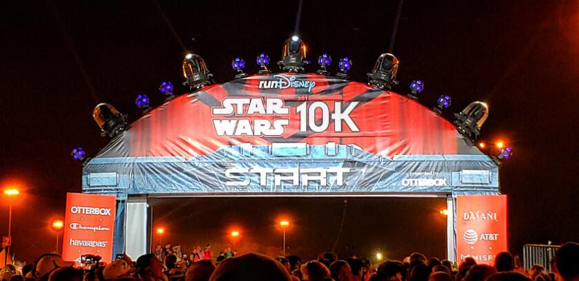 2018 Star Wars 10k Start